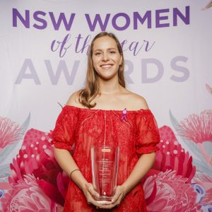 Hannah Beder at the NSW Women of the Year Awards